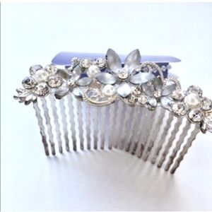 Claire's Silver Jeweled Comb